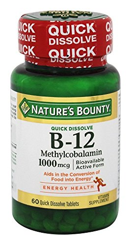 Nature s Bounty B-12 1000 mcg Microlozenges 60 ea Pack of 6