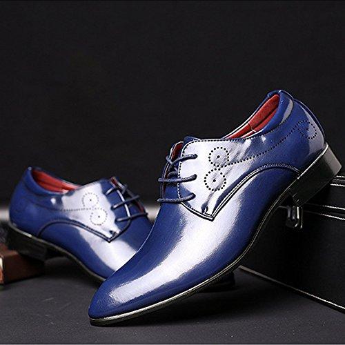 Azul Clásicos Azul Fang Forrados Respirables Superior color Eu shoes Pu Con Hombre Zapatos La En 43 Tamaño Oxford Punta 2018 Cuero Cordones De Smooth Los Hombre n1Yqr1wU4