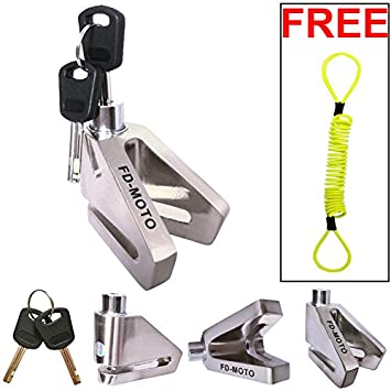 FD-MOTO Security Bike Bicycle Scooter Motorcycle Motorbike Disc Lock + Free Reminder Cable Touch Global Ltd
