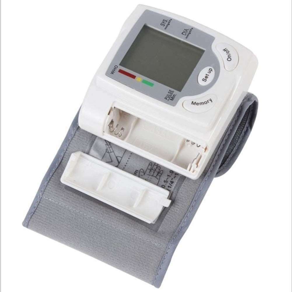 Hammer Monitor de presión arterial de muñeca digital automático medirse la tensión arterial con Pantalla LCD grande, pulso del ritmo cardíaco Detección de la familia de diagnóstico-herramienta corazón: Amazon.es: Hogar