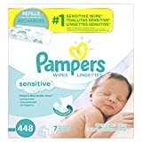 Image of Pampers Baby Wipes Sensitive 7X Refill, 448 Diaper Wipes