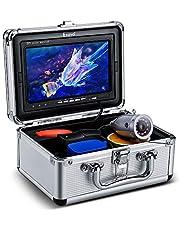 "Eyoyo Underwater Fishing Camera 7 inch Color Screen 1000TVL Waterprood IR Camera for Lake Boat Sea Ice Fishing (7"" 30m)"