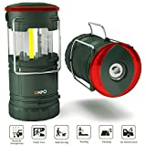 Premium LED Camping Lantern EMPO Portable Flashlight for Outdoor-Ultra Bright, Durable, Lightweight, Fully Collapsible-Magnetic Base, Torch, Beacon-Water Resistant-Hiking, Fishing, Car, Outages-Gree