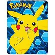 """Pokémon """"Pikachu"""" Fleece Throw Blanket, 45 x 60-inches"""