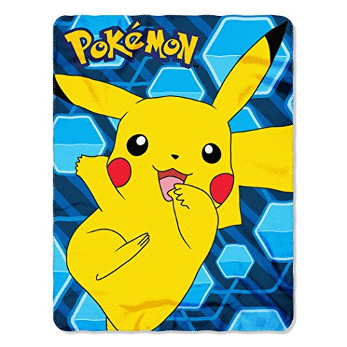 The Northwest Company Pokémon Pikachu Fleece Throw Blanket, 45 x 60-inches -