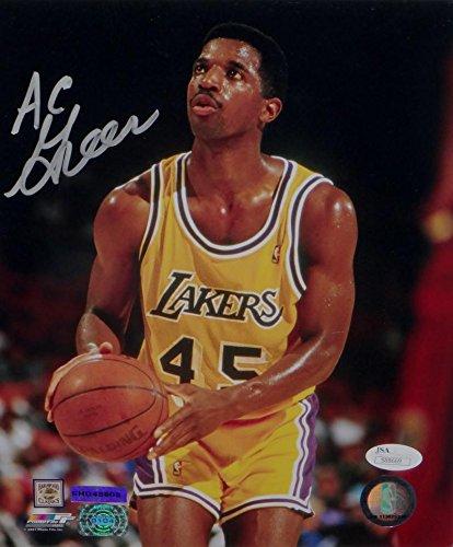uk availability e9e4f b3ed1 A. C. Green Signed LA Lakers 8x10 Shooting Free Throw PF ...