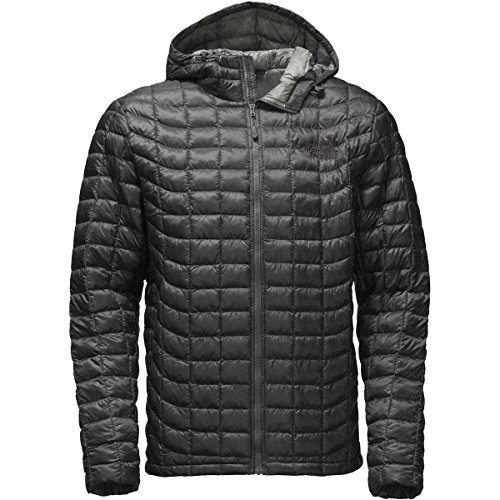 The North Face Thermoball Hoodie Jacket - Men's Asphalt Grey/Fusebox Grey Process Print Large