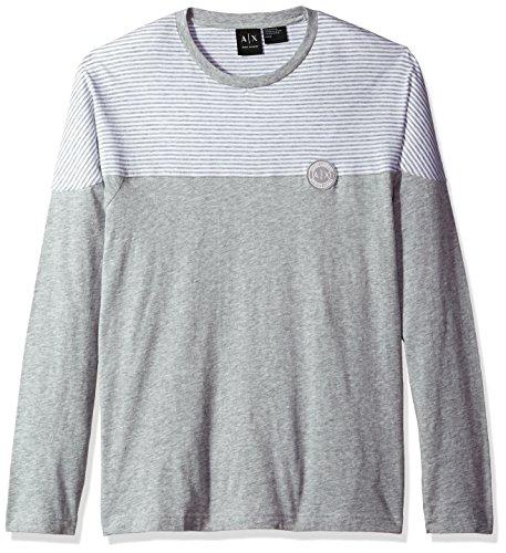 A|X Armani Exchange Men's Cotton Jersey Long Sleeve Shirt, Grey,