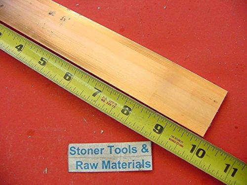 "1/4""x 1-1/2"" C110 COPPER BAR 10"" long Solid Flat Bar .25"" Mill Bus Bar Stock H02"