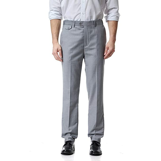 b46be2adba6d8 Ms lily Men's Business Suit Pants Casual Pants(Gray-XXX-Large) at ...