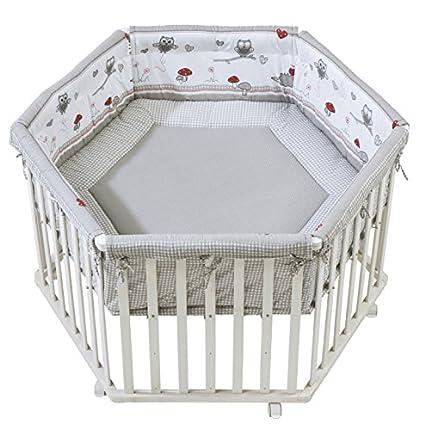 Roba 0232W V148 Disegno Adam & Eule Box Esagonale per Bambini, Grigio