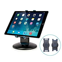 AIDATA Desktop/Tabletop Adjustable Tablet Stand - 360 Rotating, Retail Kiosk iPad Stand with Swivel Design for Store POS, Fits All iPad Models and Most 6-13 Inch Tablets