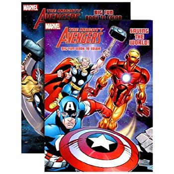 THE MIGHTY AVENGERS Coloring Book By Bazic