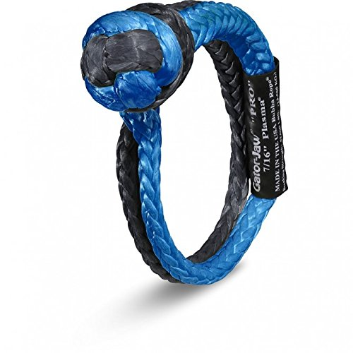 Bubba Rope Gator-Jaw 176745PRO Synthetic Soft Shackle 52,300LB Breaking Strength Blue /& Black 5559008690