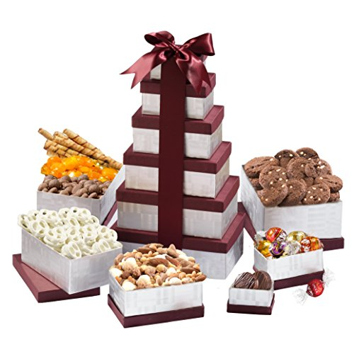 Broadway Basketeers Happy Birthday Celebration Wishes Gift Tower