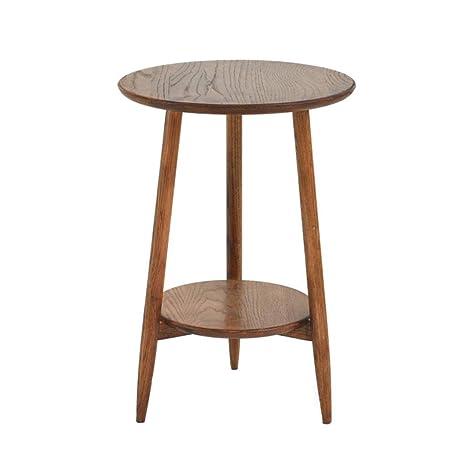Amazon.com: Mesa de café pequeña de madera maciza con tres ...