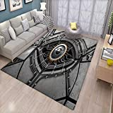 cleveland browns robot - Eye Extra Large Area Rug Robot Eye with Wires Futuristic Technology Cyborg Mechanical Industrial Fantastic Bath Mat for tub 6'6