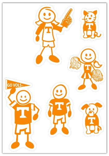 - Siskiyou NCAA Tennessee Volunteers Small Family Decal Set