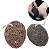 Loghot Pack of 2 Natural Lava Pumice Stone Foot Callus Remover Exfoliates Dead Skin Ideal for Spa Massage, Heel Scrub & Cleaning