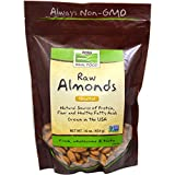 Now Foods Real Food Natural Unblanched Almonds Unsalted - 16 oz