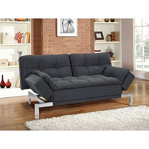 Lifestyle Solutions Serta Boca Convertible Sofa in Charco...