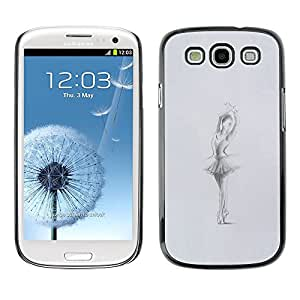 Plastic Shell Protective Case Cover || Samsung Galaxy S3 I9300 || Grey Charcoal Sketch @XPTECH
