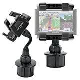 DURAGADGET Anti-Shake, Anti-Vibrate In-Car GPS Cup Holder Mount with Adjustable Arms for The NEW Garmin Montana 610, 680, 680T & Garmin Dash Cam 35