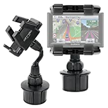DURAGADGET Anti-Shake, Anti-Vibrate In-Car GPS Cup Holder Mount with Adjustable Arms for The NEW Garmin nuvi 55LM, 57LM, 57LMT, 58LMT, 67LMT, 68LMT & Garmin Camper 660LMT-D