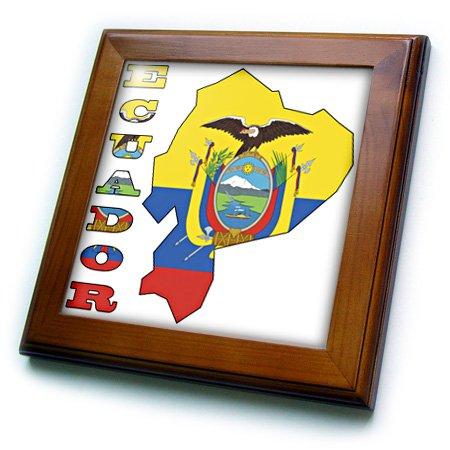 3dRose ft 51749 1 Ecuadorian Letters Ecuador Framed