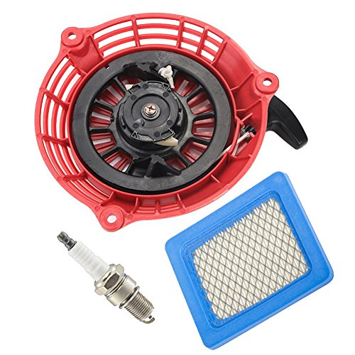 HIFROM Replace Recoil Starter with Air Filter Spark Plug for Honda GC135 GC160 GCV135 GCV160 Generator Engine