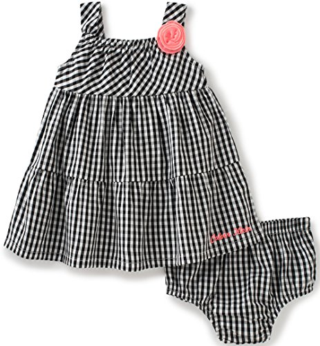 Calvin Klein Baby Girls' 2 Pieces Dress With Panty, Black/White, 18M