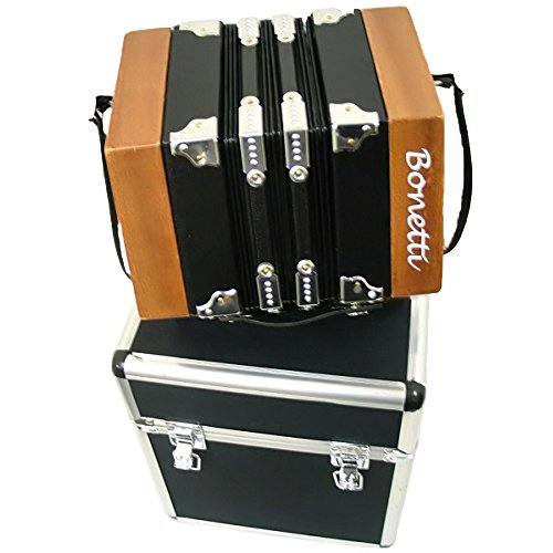 Bonetti Concertina 20 Key Accordion - 40 Reed, Natural Color with Case by Bonetti