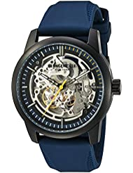 Kenneth Cole New York Mens  Automatic Stainless Steel and Silicone Dress Watch, Color:Blue (Model: 10030791)