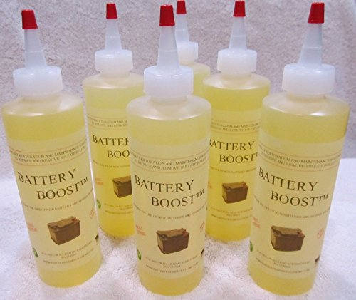Battery Boost Liquid De-Sulfate Additive - Golf Cart Repair Solution Fix, Renew, Restore Kit (Battery Additive)
