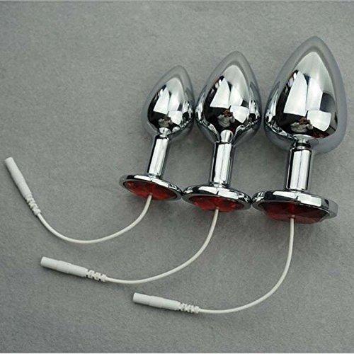 DACHUI Terapia de Masaje de los impulsos de choque eléctrico anal accesorios de metal sólido Butt plug anal eléctrico tapón vaginal estimulación eléctrica juguetes sexuales O35 L 743d59