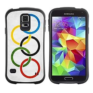 LASTONE PHONE CASE / Suave Silicona Caso Carcasa de Caucho Funda para Samsung Galaxy S5 SM-G900 / National Flag Nation Country Olympic Flag