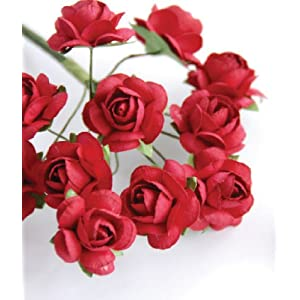 "Zva Creative - Mini Rose Bulk Paper Flowers .5"" (12mm) 144 Stems 118"