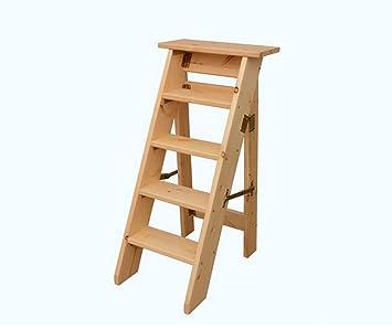 Dgntd Holz Home Leiter Indoor Fold Leiter Funf Schichten Regal