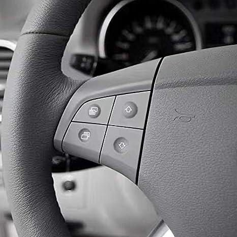 Shumo Bot/óN de Volante de Audio Multifunci/óN de Coche para Mercedes W164 GL ML 2006-2009 Negro