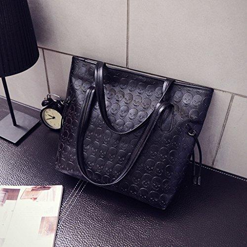 Messenger Purse Skull Dabixx Tote Handbag Rivet Bag Hobo Women Bags Vintage Shoulder 0xpCSq