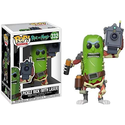 Funko Pop! Animation: Rick & Morty - Pickle Rick with Laser Collectible Figure,Multi-colored,3.75 inches