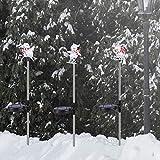 3 PCS Solar Christmas Snowman Decorations Outdoor