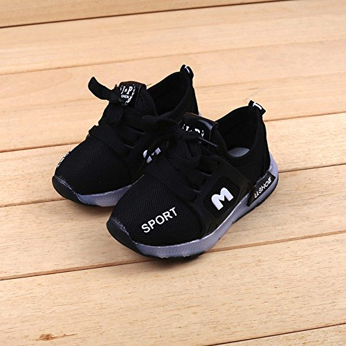 con anni scarpe Girl ha 6 1 luminose Toddler Bbsmile per velcro Black Shoes portato xA7qfF10w