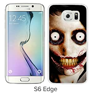 Newest Samsung Galaxy S6 Edge Case ,jeff the killer White Samsung Galaxy S6 Edge Cover Case Fashionable And Popular Designed Case Good Quality Phone Case