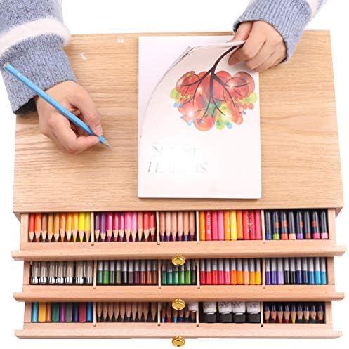[해외]Jadpes Drawing Paint Toolbox3 Layer Drawer Drawing Tool Pigment Painting Accessory Tool Box Beech Wood Case Art Supply Artist Drawer Tool Box / Jadpes Drawing Paint Toolbox3 Layer Drawer Drawing Tool Pigment Painting Accessory Tool...