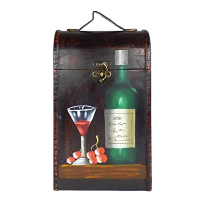 Luxury 2 Bottle Wooden Temple for 2 Wine Storage Carrier - Ideas de regalos para regalos