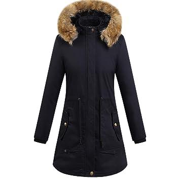 ZHRUI Parka para Mujer Abrigo de Invierno Cálido Cortavientos Ropa Interior Gruesa Chaqueta de algodón Acolchada (Color : Negro, tamaño : XXL): Amazon.es: ...