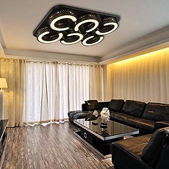 Vingo Led 72w Wand Deckenleuchte Geschaft Schwarz Esszimmer Deckenlampe Abstrahlwinkel 120 Warmweiss