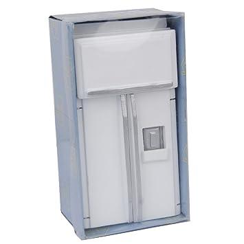 Amazon.es: 1/12 Casa de Munecas Muebles de Nevera Refrigerador en ...