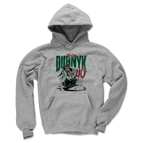 500 LEVEL Devan Dubnyk Minnesota Wild Hoodie Sweatshirt (XX-Large, Gray) - Devan Dubnyk Rise -
